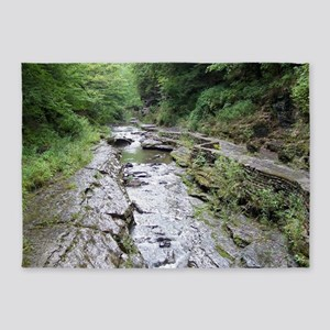forest river scenery 5'x7'Area Rug