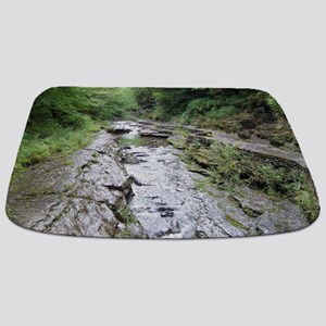 forest river scenery Bathmat
