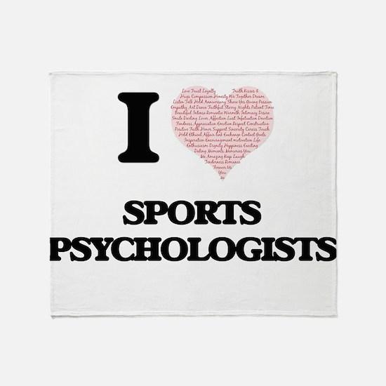 I love Sports Psychologists (Heart m Throw Blanket