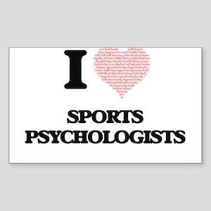I love Sports Psychologists (Heart made fr Sticker