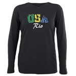 USA Rio Plus Size Long Sleeve Tee