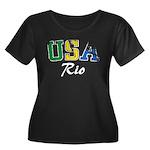 USA Rio Plus Size T-Shirt