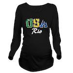 USA Rio Long Sleeve Maternity T-Shirt