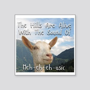 Musical and Goat Humor Sticker