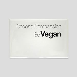 Choose Compassion Be Vegan Magnets