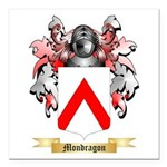 Mondragon Square Car Magnet 3