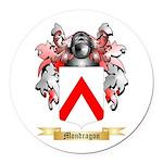 Mondragon Round Car Magnet