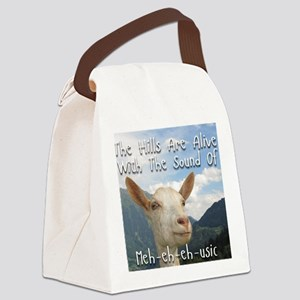 Musical and Goat Humor Canvas Lunch Bag