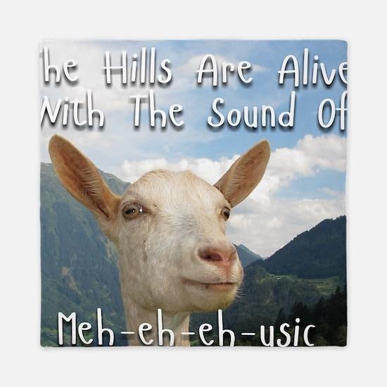 Musical and Goat Humor Queen Duvet