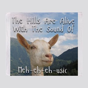 Musical and Goat Humor Throw Blanket