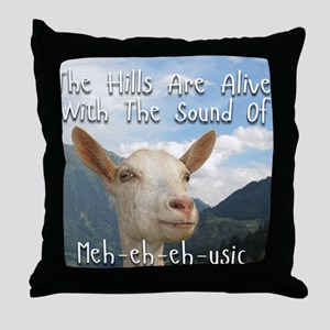 Musical and Goat Humor Throw Pillow