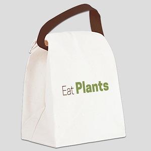 Eat Plants Canvas Lunch Bag