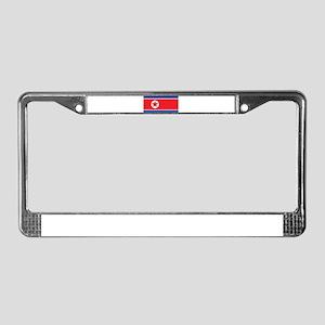 North Korea Flag License Plate Frame