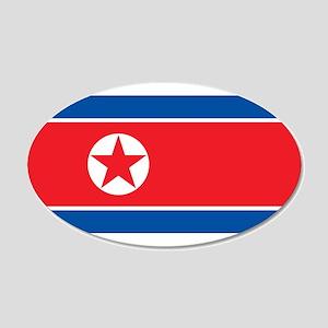 North Korea Flag Wall Decal