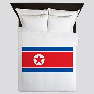 North Korea Flag Queen Duvet