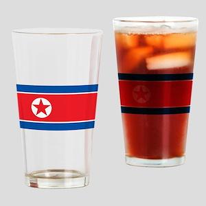 North Korea Flag Drinking Glass