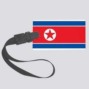 North Korea Flag Luggage Tag
