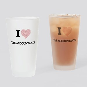 I love Tax Accountants (Heart made Drinking Glass