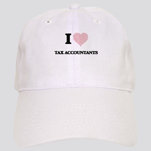 I love Tax Accountants (Heart made from words) Cap