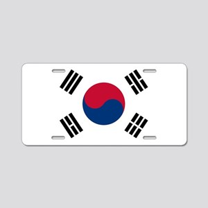 South Korea Flag Aluminum License Plate