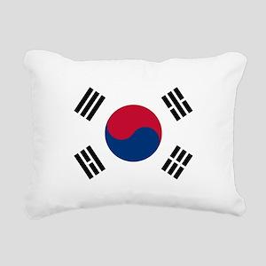 South Korea Flag Rectangular Canvas Pillow