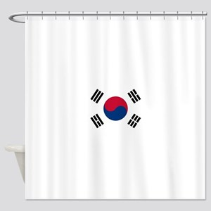 South Korea Flag Shower Curtain