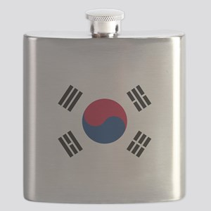 South Korea Flag Flask