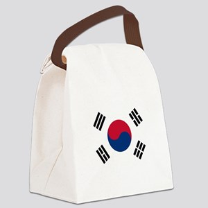 South Korea Flag Canvas Lunch Bag