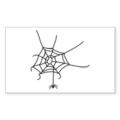 Spider Web Sticker (Rectangle)