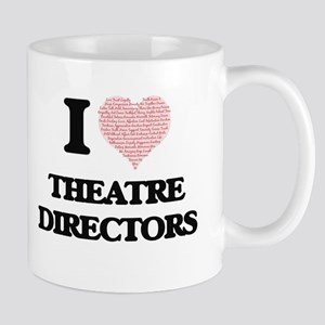 I love Theatre Directors (Heart made from wor Mugs