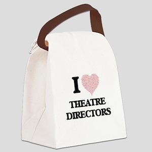 I love Theatre Directors (Heart m Canvas Lunch Bag