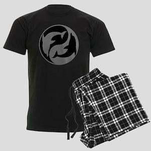 Grey And Black Yin Yang Dolphins Pajamas