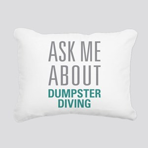 Dumpster Diving Rectangular Canvas Pillow
