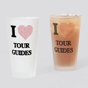 I love Tour Guides (Heart made from Drinking Glass