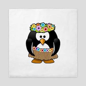 Hawaii Penguin Queen Duvet