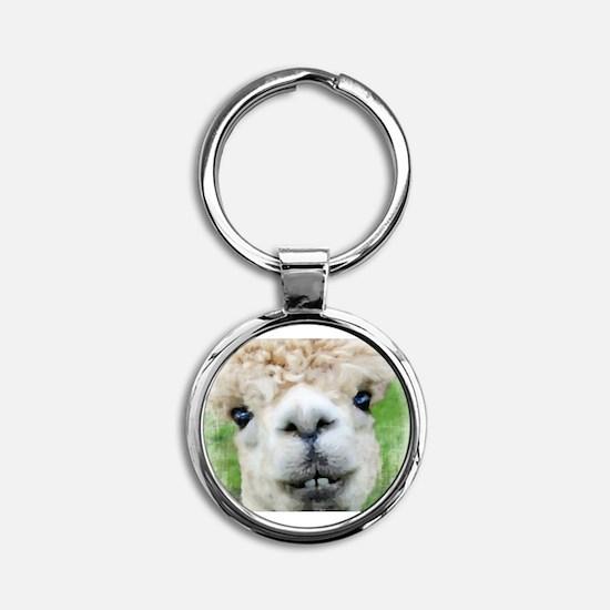 Alpaca Painting Keychains
