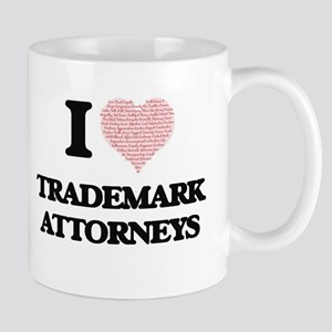 I love Trademark Attorneys (Heart made from w Mugs