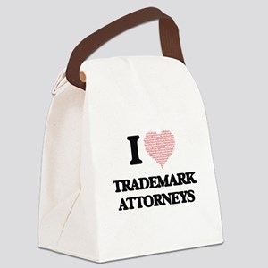 I love Trademark Attorneys (Heart Canvas Lunch Bag