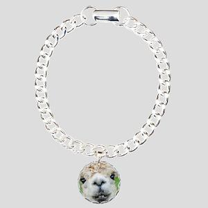 Alpaca Painting Charm Bracelet, One Charm