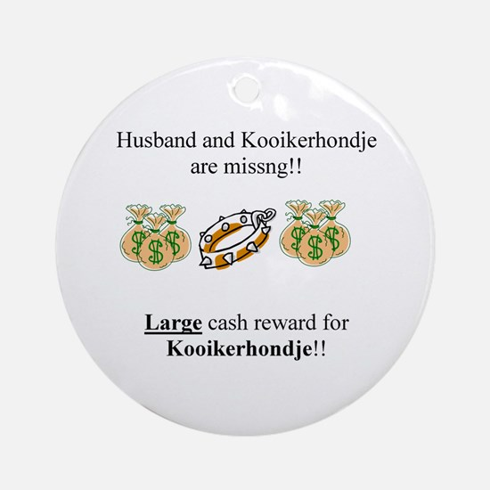 Kooikerhondje Missing Ornament (Round)