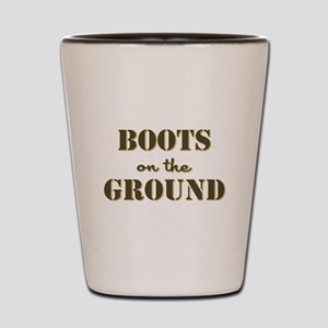 BOOTS on the GROUND Shot Glass