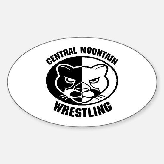 Central Mountain Wrestling 6 Oval Decal