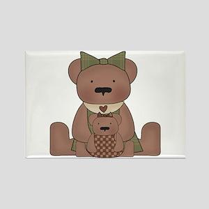 Teddy Bear With Teddy Rectangle Magnet