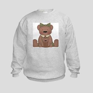 Teddy Bear With Teddy Kids Sweatshirt