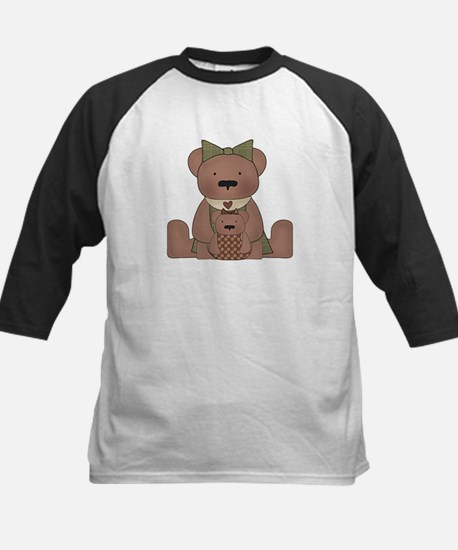 Teddy Bear With Teddy Kids Baseball Jersey