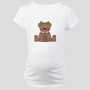 Teddy Bear With Teddy Maternity T-Shirt