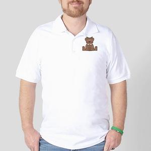Teddy Bear With Teddy Golf Shirt
