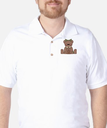 Teddy Bear With Teddy Golf Shirt
