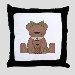 Teddy Bear With Teddy Throw Pillow