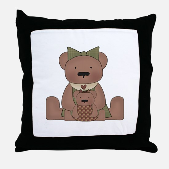 Teddy Bear With Teddy Throw Pillow